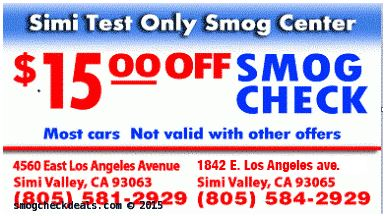 Smog Check Simi Valley - Smog Check Coupons - $15 off